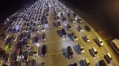 Jakarta traffic jam at night.mp4 Stock Footage