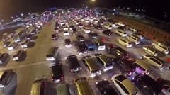 Indonesia night traffic from the top.mp4 Stock Footage