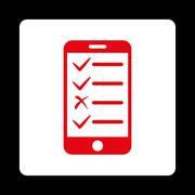 Mobile Tasks Icon from Commerce Buttons OverColor Set - stock illustration
