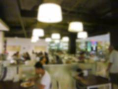 Blurry defocused image of canteen Stock Photos