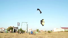 Unidentified kitebuggy rider Stock Footage