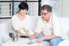 Pension, retiree, saving concept - stock photo