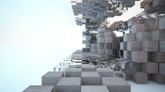 Abstract Architecture. 3D rendering - stock footage