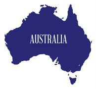 Australia Map Silhouette - stock illustration