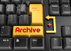 Archive button - stock illustration