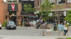 Bars in Liberty Village Stock Footage