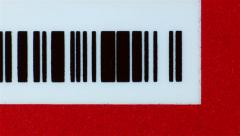 Dolly shot of business card with bar code, Macro - stock footage