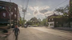 Queen St & Gore Vale Ave - stock footage