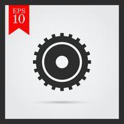 Gear wheel - stock illustration