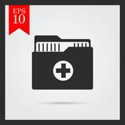 Medical history icons Stock Illustration