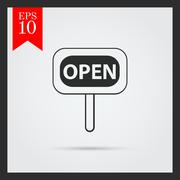 Open sign icons - stock illustration
