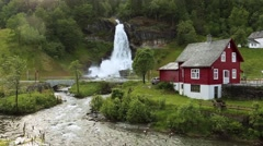 Stock Video Footage of Steindalsfossen