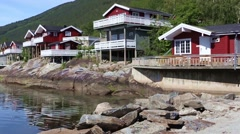Stock Video Footage of red norwegian houses
