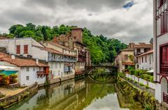 Saint-Jean-Pied-de-Port in the Basque region of France. Stock Photos