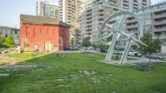 Park in Liberty Village Stock Footage