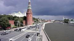 Moscow. Kremlin embankment Stock Footage