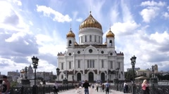 Cathedral of Christ the Saviour. Timelapse Stock Footage