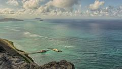 Makapu'u Oahu Ocean, Seascape, Time Lapse Hawaii, Koolau Range Stock Footage