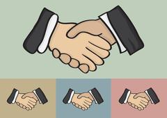 Business Handshake Vector Illustration - stock illustration