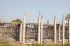 Blurry defocused image of the structure of temple church during construction Stock Photos