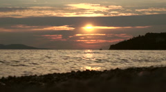 Sea at sunset - stock footage