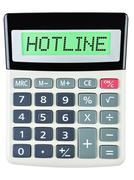 Stock Photo of Calculator with HOTLINE