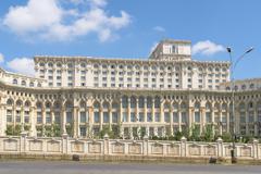 Palace of Parliament (Casa Poporului) In Bucharest - stock photo