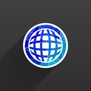 Planet icon network map earth business concept Piirros