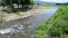Oi River in Arashiyama at Kyoto, Japan Stock Footage
