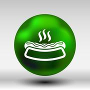 Appetizing hotdog such logo version also available gallery - stock illustration