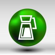 Glass jar of preserved apples compote LOGO Stock Illustration