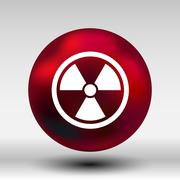 sign radiation vector icon caution nuclear atom power - stock illustration