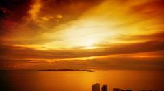 Pattaya Tower sunset HD - stock footage
