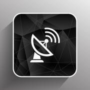 Radar Vector icon satellite dish tv technology - stock illustration