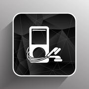 Mp3 player - Original design  icon screen stereo vector Stock Illustration