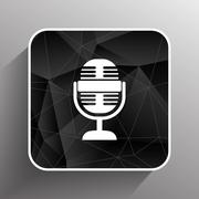 Microphone icon broadcasting isolated journalist record Piirros