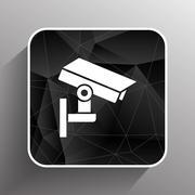 Camera cctv icon sign graphic theft wireless street Stock Illustration