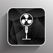 wind turbine icon vector sign cooler rotation - stock illustration