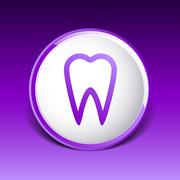 icon toothache vector sign line clinic symbol whitening - stock illustration