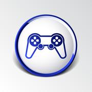 Joystick icon Rounded squares button console controller. Stock Illustration