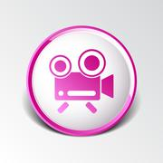 icon isolated chair recording square camcorder simbol - stock illustration