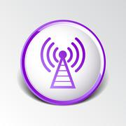 Antenna icon tower radio mast signal antenna vector network - stock illustration