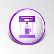 Coffee maker monochrome icon electric cafe kitchen Stock Illustration