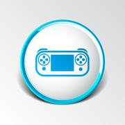 Illustration of game controls Video games Silhouettes, vector Piirros