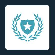 Shield icon from Award Buttons OverColor Set - stock illustration
