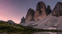 Alps dolomites mountain peak time lapse sunrise.mp4 Stock Footage