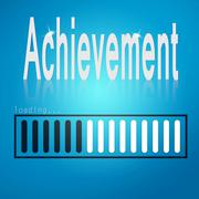 Achievement blue loading bar Stock Illustration