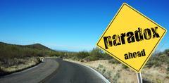 Desert road - stock illustration