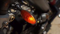 Motorbike blinking turn signal. Stock Footage