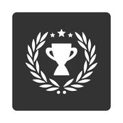 Glory icon from Award Buttons OverColor Set - stock illustration